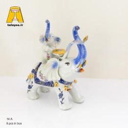 مجسمه دکوری فیل چینی متوسط