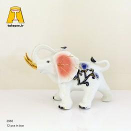 مجسمه دکوری فیل چینی متوسط صورتی