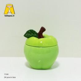 چینی سرامیک کالیپسو قندان طرح سیب رنگی1144