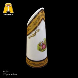 چینی تقدیس لمونژ طلایی گلدان کج برش G11