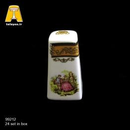 چینی تقدیس لمونژ طلایی نمکپاش کوئین