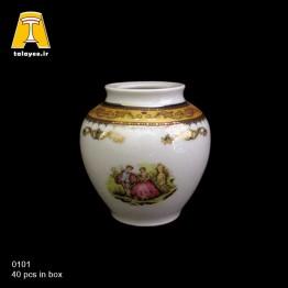 چینی تقدیس لمونژ طلایی گلدان G1