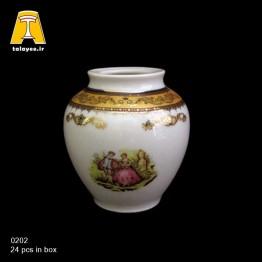چینی تقدیس لمونژ طلایی گلدان G2