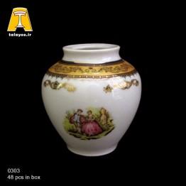 چینی تقدیس لمونژ طلایی گلدان G3
