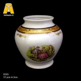 چینی تقدیس لمونژ طلایی گلدان G5