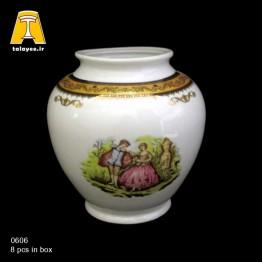 چینی تقدیس لمونژ طلایی گلدان G6