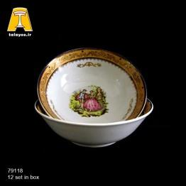 چینی تقدیس لمونژ طلایی کاسه 16 گرد