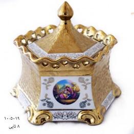 لمونژ طلایی شکلات خوری شش ضلعی 10