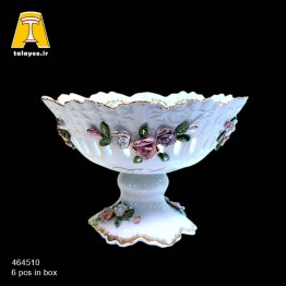 لمونژ سفید میوه خوری گل برجسته 10-4645