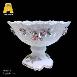لمونژ سفید میوه خوری گل برجسته 14-4645