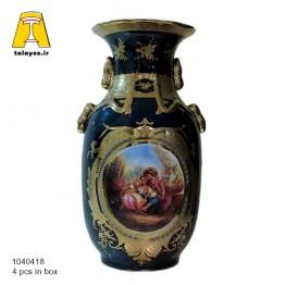 سورمه ای گلدان 18-10404